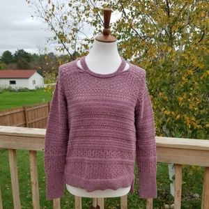 Maurices Mauve Cut Out Neck Sweater